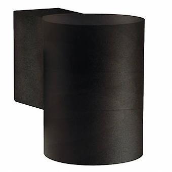 1 ljus utomhus cylinder liten Downlight svart Ip54
