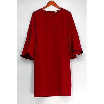 Belle by Kim Gravel Dress XXS Bell Sleeve V Neck Claret Red A299310