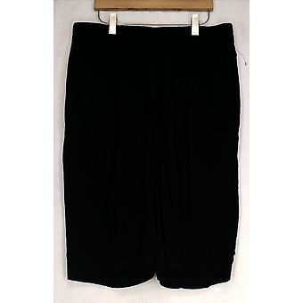 Apt. 9 Elastic Waist Cropped Black Pants Womens