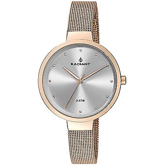 Radiant new north star Quartz Analog Woman Watch with RA416203 Gold Plated Stainless Steel Bracelet