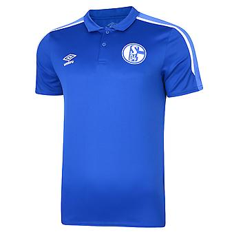 2019-2020 Schalke Umbro Poly Polo Shirt (Blue)