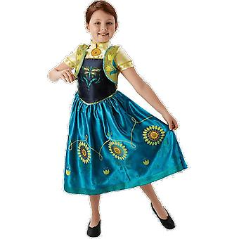 Girls Age 3 - 8 Years Disney Frozen Fever Anna Princess Fancy Dress Costume
