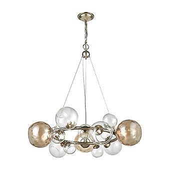 Bubbles 9-light chandelier