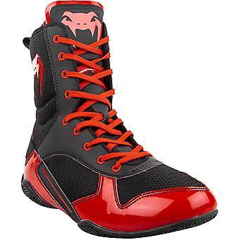 Venum Elite Professional Boxing Shoes - Black/Red