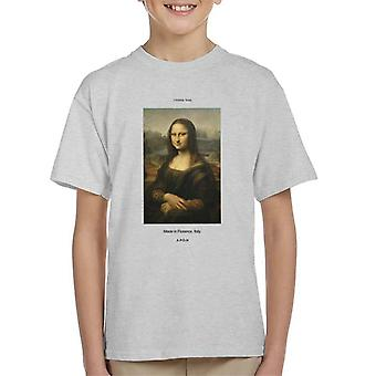 A.P.O.H Mona Lisa Made In Florence Kid's T-Shirt