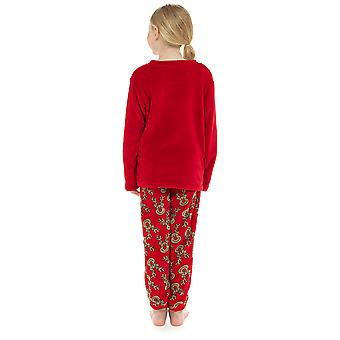 Kids Novelty Reindeer Fleece Pyjama Set