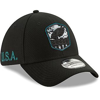 New Era 39Thirty Cap Salute to Service - Philadelphia Eagles