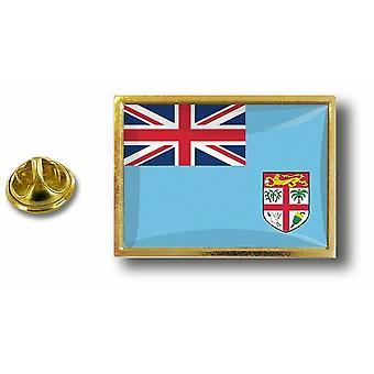 Pins Pin Badge Pin's Metal  Avec Pince Papillon Drapeau Fidji Fiji Fidjien