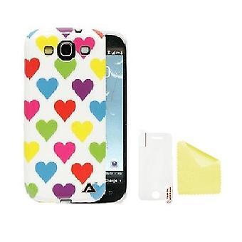 Samsung Galaxy S3 JELLi Love fargebeskyttelse Shell + skjermbeskyttelse