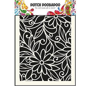 Dutch Doobadoo Flower Swirl A5 Stencil Mask A5 470.715.010