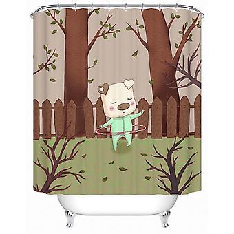 Hula Hoop Piggy Shower Curtain