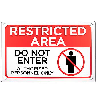 Restricted Area - Do Not Enter Sign 18
