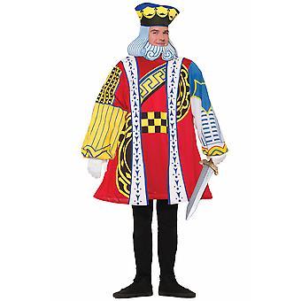King Of Hearts Playing Card Poker Alice In Wonderland Book Week Mens Costume