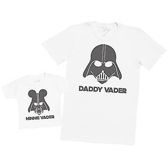 Papa en Minnie vader-mens T shirt & Baby T-shirt