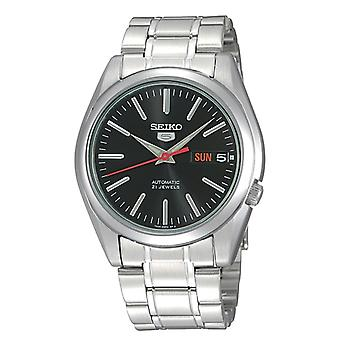 Seiko 5 Automatic Black Dial Silver Stainless Steel Men's Watch SNKL45K1 RRP £169
