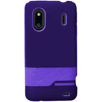 Body hansikas timantti Snap-on tapa uksessa HTC EVO/Design 4G/Hero S-violetti