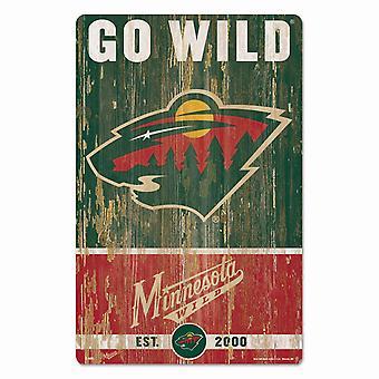 Wincraft NHL Wooden Sign SLOGAN Minnesota Wild 43x28cm