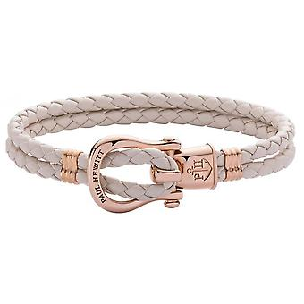 Paul Hewitt Bracelet PH-FSH-L-R-CHB-M - Steel IP Rose PHINITY SHACKLE Leather Rose P the Woman