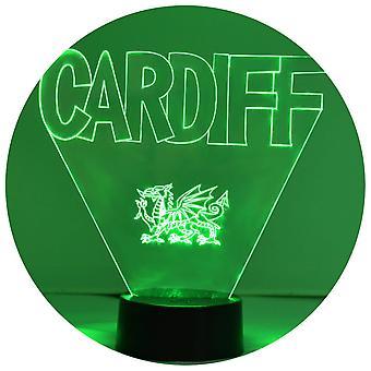 Cardiff & walijski Smok kolor zmieniających Light LED akrylowe