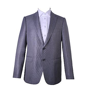 Armani Collezioni Checkered Pattern Suit Grey