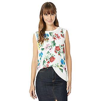 Calvin Klein Women's Sleeveless Printed Shell, Multi Floral, X-Large
