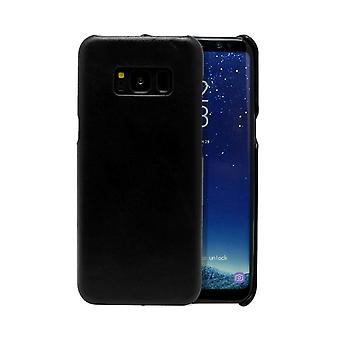 For Samsung Galaxy S8 Case,Modern Genuine Durable Protective Leather Cover,Black
