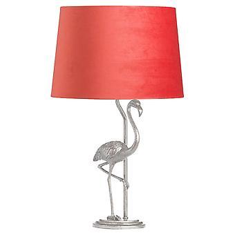 Hill interiörer antik stil Flamingo lampa med sammet skugga