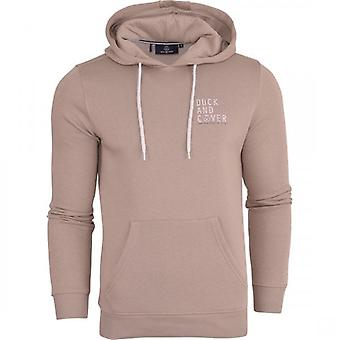 Duck and Cover Duck And Cover Mens Designer Casual Hooded Small Logo Top Hoody Fleece Sweatshirt Jacket