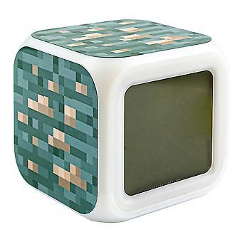 Minecraft Digital Alarm Clock - Iron