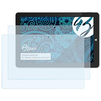 Bruni 2x Screen Protector compatible with Trekstor SurfTab Twin 10.1 2017 Protective Film