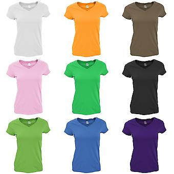 SOLs Womens/Ladies Moon V Neck Short Sleeve T-Shirt