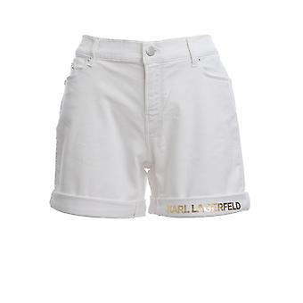 Karl Lagerfeld Klwst0003000011111 Women-apos;s White Cotton Shorts