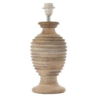 Endon Sagara 1 Light Table Light White Wash Wood (alleen basis) 90572