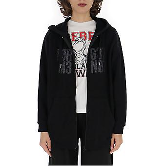 Red Valentino Sr3mf01e4dg0no Women's Black Cotton Sweatshirt
