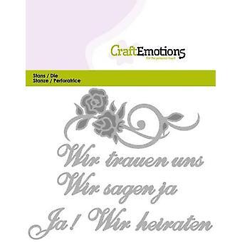 CraftEmotions Die Text - Wir trauen uns (DE) Card 11x9cm