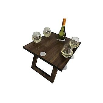 Hardwood 4 Verres Table de vin pliant portable