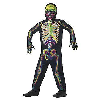 Drenge glød i det mørke skelet fancy kjole kostume Halloween