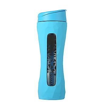 TRIMR Shaker Glass Water Bottle 590ml in Blue