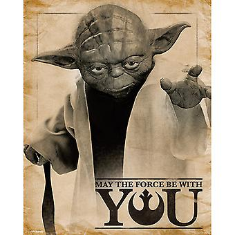 Star Wars Classic Yoda May the Force be With You Mini Poster