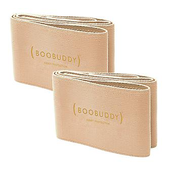 Boobuddy breast support band twin pack – beige
