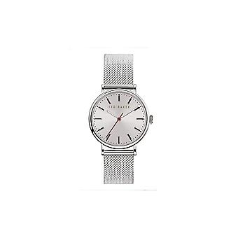 Ted Baker Watches White Dial Silver Mesh Band Ladies Watch BKPPHF920