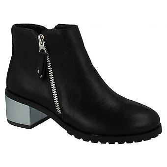 Anne Michelle Womens/Ladies Metallic Block Heel Ankle Boots