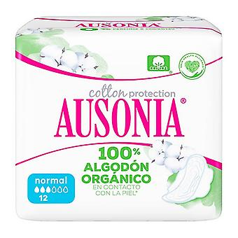 Normal Sanitary Pads with Wings Organic Ausonia (12 uds)