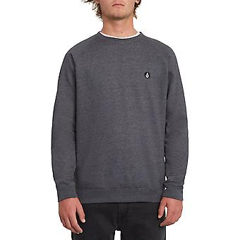 Volcom Men's Crew Neck Sweater ~ Timesoft black
