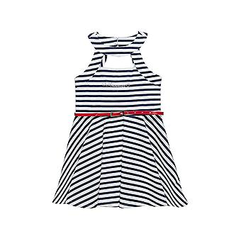 Alouette Girls' Striped Dress With Open Front And Removal Zone
