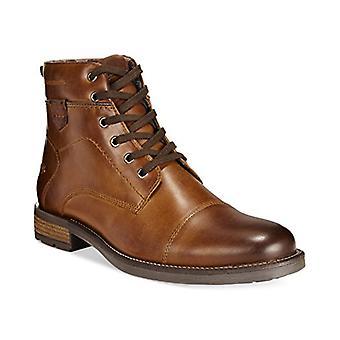 Alfani Mens Jack Leather Cap Toe Ankle Fashion Boots