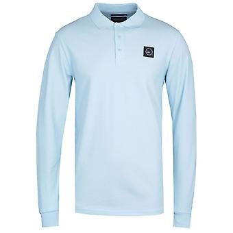 Marshall Artist Siren Long Sleeve Sky Polo Shirt