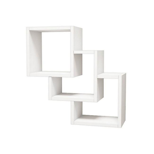 Étagère couleur blanche trois boîtes en puce melaminique, PVC 57.9x19.5x57.7 cm