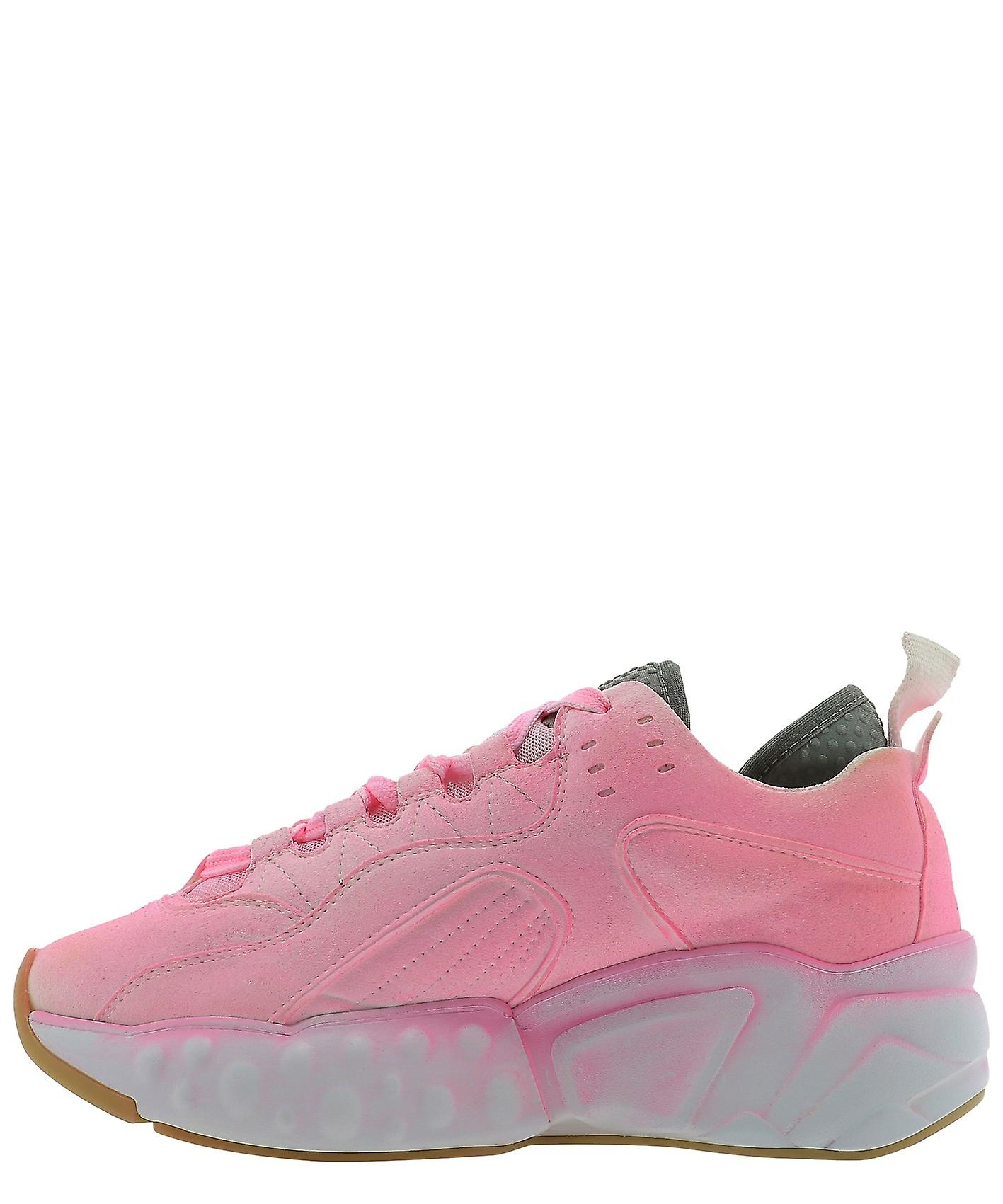 Acne Studios Ad0209fluopink Women's Pink Leather Sneakers