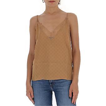 Gucci 629249xjcud2045 Dames's Beige Silk Top